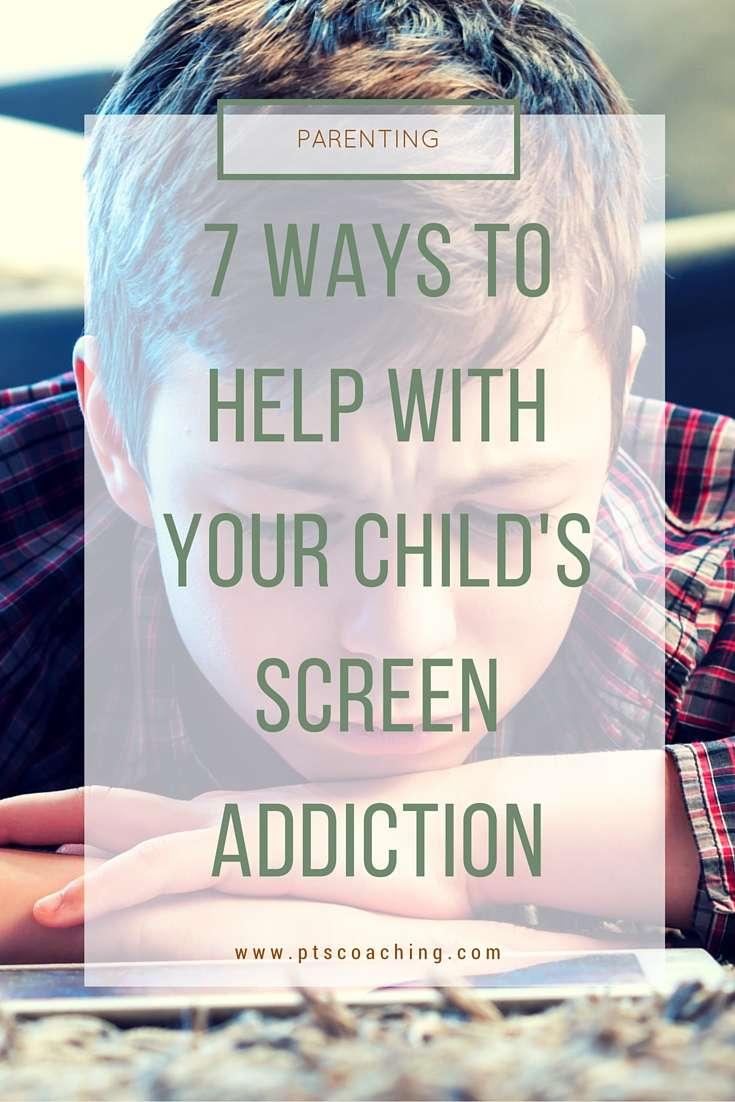 child's screen addiction